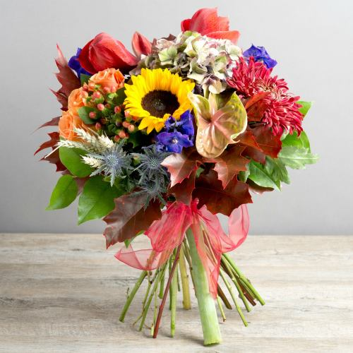 Designer ~  The Beautiful Shades Of Autumn Luxury Bouquet