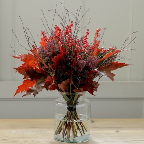 Mid-winter ~ Enchanted Forest Berry & Leaf Bouquet