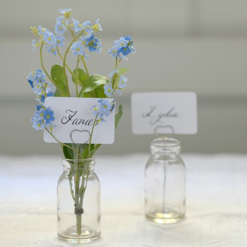 Table ~ Heart & Vase Name Card Holders
