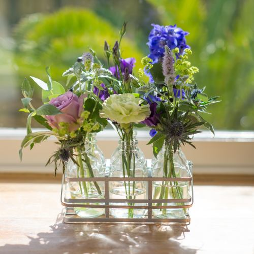 Flower Bottles ~ Lilac Garden Blooms