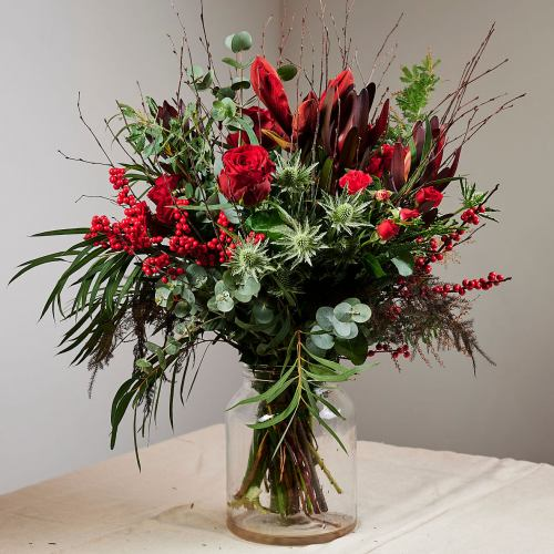 Festive ~ Spiced Mulled Wine Luxury Flower And Berry Bouquet