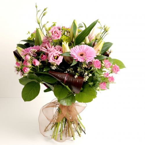 Classic ~ Pretty In Pink Flower Bouquet