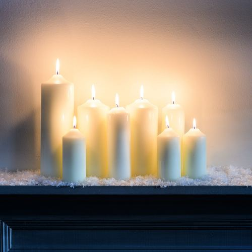 Wax ~ Traditional Church Chapel Pillar Candles Various