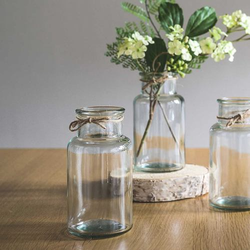 Glass Bottles ~ Botanical Wide Neck Vase
